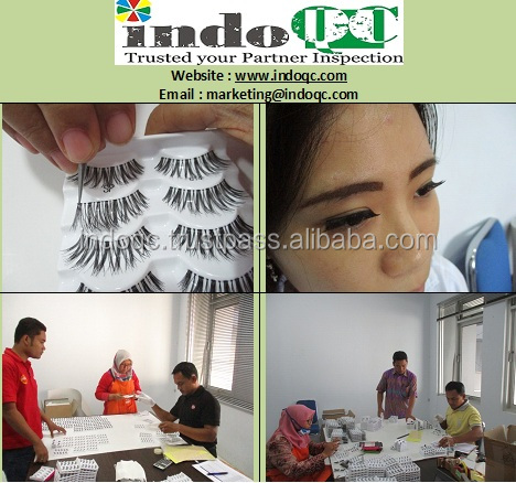 Profesional inspection services / QC in indonesia product eyelashes / quality control