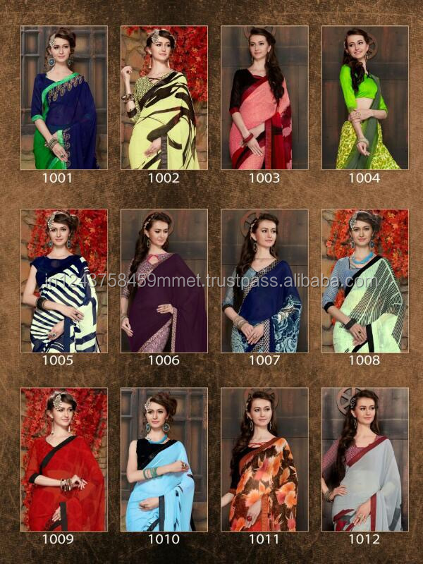 Saundhary india georgette saree