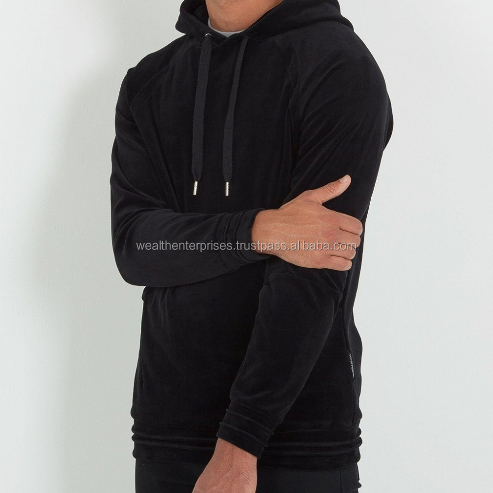 Velour men's hoodies/Velvet designer men's hoodies/Velour high quality hoodies