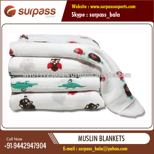 Soft Cotton Muslin Swaddle Blanket for Baby at Reliable Price