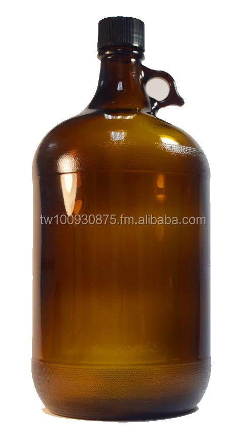 Liter Amber Glass Bottles