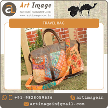 Wide Range Exclusive Fancy Patchwork Travel Bag at Market Price