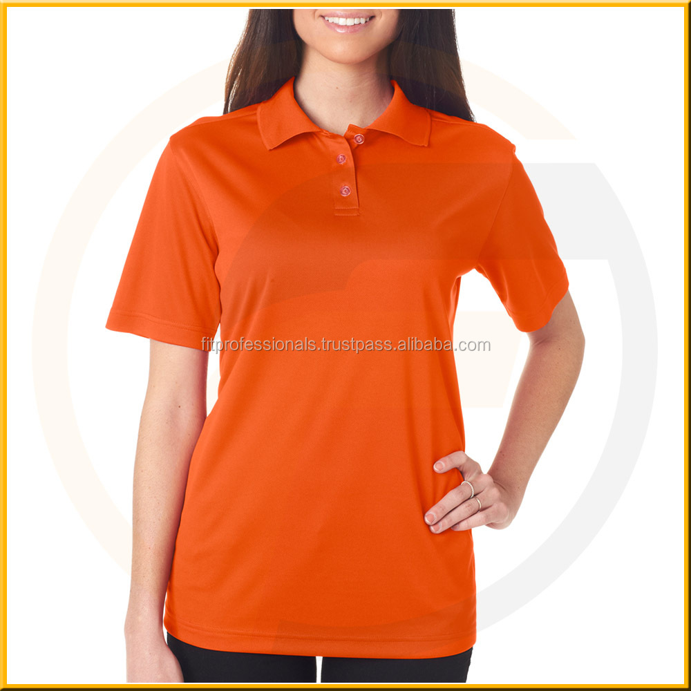 Alibaba China Factory Directly Sale Button No Pocket Casual Ladies Polo T Shirts