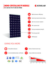 Solar panel 270w Monocrystalline 60 cells high quality ECSolar