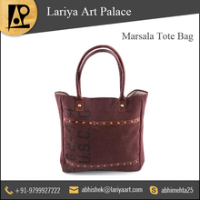 Mesmerizing Looks Marsala Tote Bag at Best Price