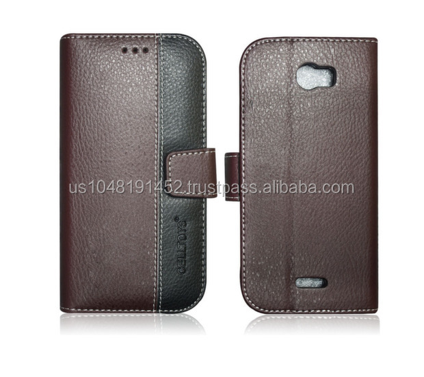Chic Leather Wallet Case For Blu Dash 5.0 II
