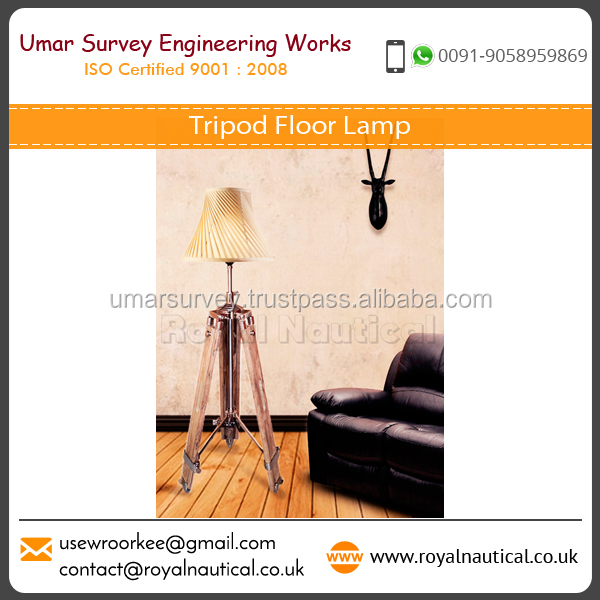 Classic Design Tripod Floor with Rust Resistant Property