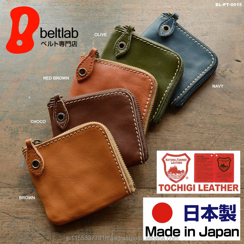Various color of compact wallets leather men with L-shape fastener