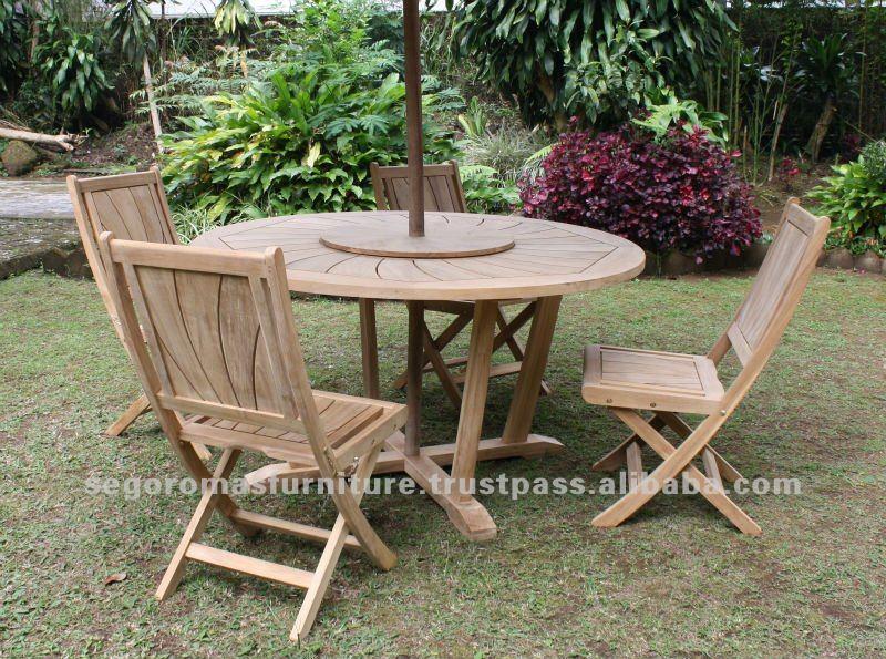 Esterno in teak mobili da giardino radiante tavolo da - Mobili da giardino in teak ...