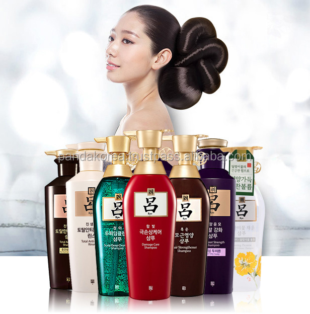 Ryo Authentic Made in Korea herbal brand 400ml 180ml set Evening Scalp Care Shampoo and Conditioner