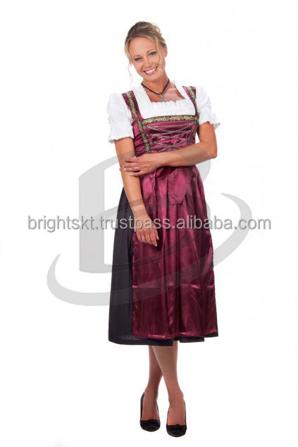 Fashion Boutique Clothing Simple Design Sleeveless Stripe Plus Size Dirndl Maternity Women Long Dirndl (Oktoberfest Garments)