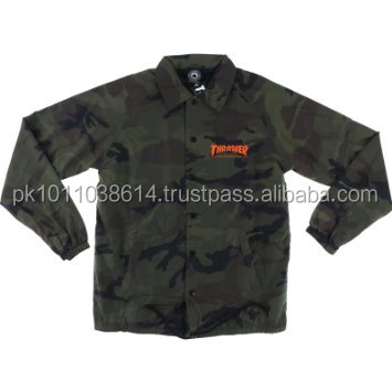 Custom made sublimated camo style coach jacket new style jacket