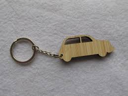 Jeep picture wooden keychains