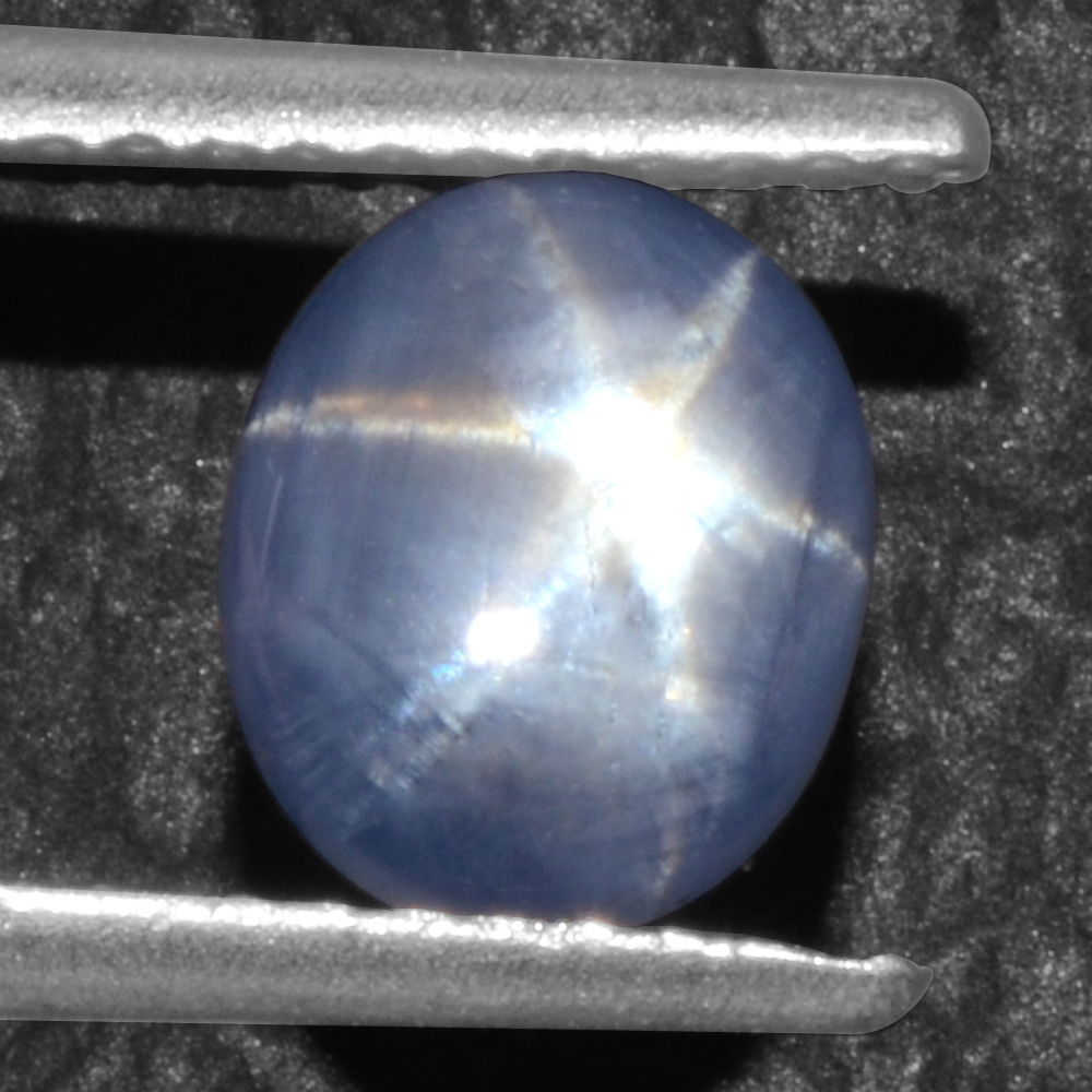 2.24 Cts Natural 6 Rays Sharp Blue Star Sapphire Unheated Oval Cab Video Burma