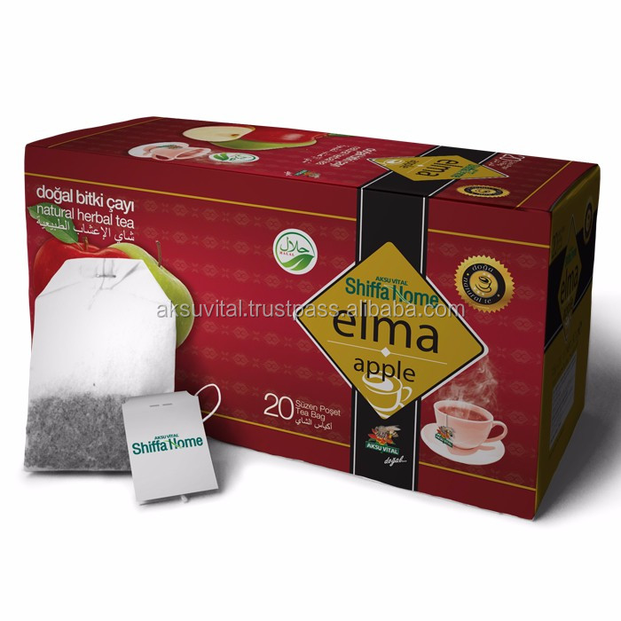Turkish Apple Tea 20 Teabags Herbal Tea Bags GMP Certified Natural Food Beverage.........