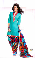 Casual wear dress - Cotton Printed salwar kameez - Wholesale cotton Printed Dress Material - Pakistani Patiyala Suit @ USD 12