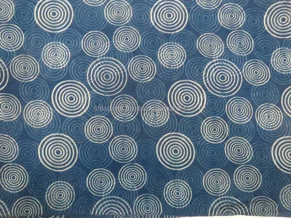 100% Cotton Natural Dye Indigo Print Fabric Craft Sewing Clothing Fabric Vintage Fabric