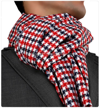 Red White Black Checked Cravat, tie, scarf, kravate