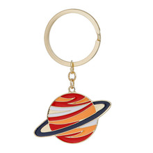 New Fashion Key Chains Key Rings Planet Gold Plated Multicolor 74mm x 46mm