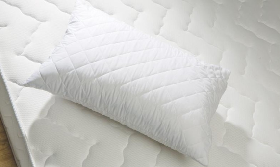 Plain Style Quilted Antiallergic and Antibacterial %100 Cotton Two Pieces Pillow Protector