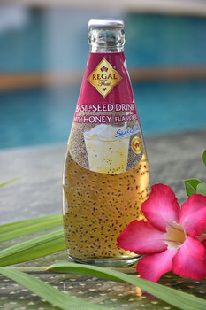 Basil Seed Drink with Honey in glass bottle (290ml)
