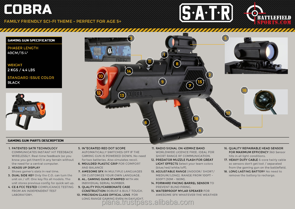 Laser Tag Equipment - Cobra