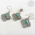 Rare Indian Jewelry 925 Sterling Silver Turquoise Set Wholesaler Natural Handmade Silver Jewelry Jaipur