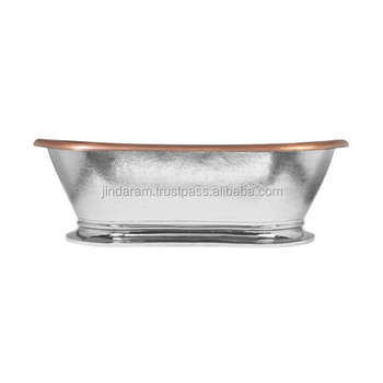 Silver Finish Copper Bath Tub