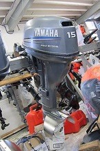 Free Shipping For Used Yamaha 15 HP 4 Stroke Outboard Motor Engine