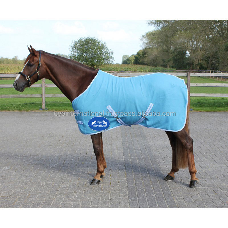 New Polar Fleece Horse Travel Rug with Cross Belts, Red (Choice of Sizes)