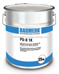 Polyurethane Based, Bitumen Modified, Single Component, Liquid Waterproofing Material