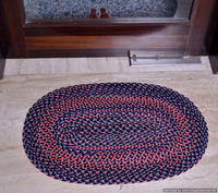 Designer Braided Floor Mat Embroidered Handmade Rug/Carpet Reversible Door Mat