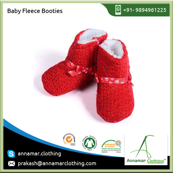 Hot Selling Red and Black Colourful Baby Booties for Daily Use