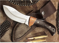 A PIG HUNTING BLADE SHAPE WITH BUFFALO HORN HANDLE 440-C STEEL HUNTING KNIFE
