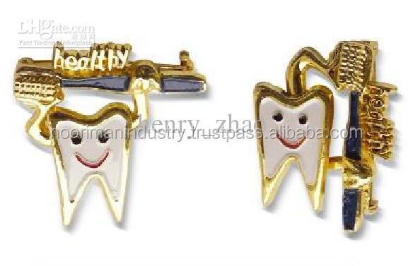 SOLID GERMANY STAINLESS STEEL Wholesale Tooth Shaped Brooch Dental