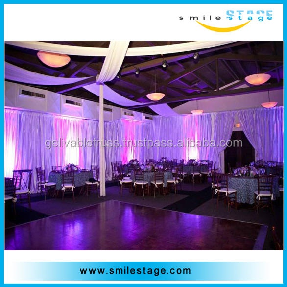 wall backdrop pipe and drape stand system