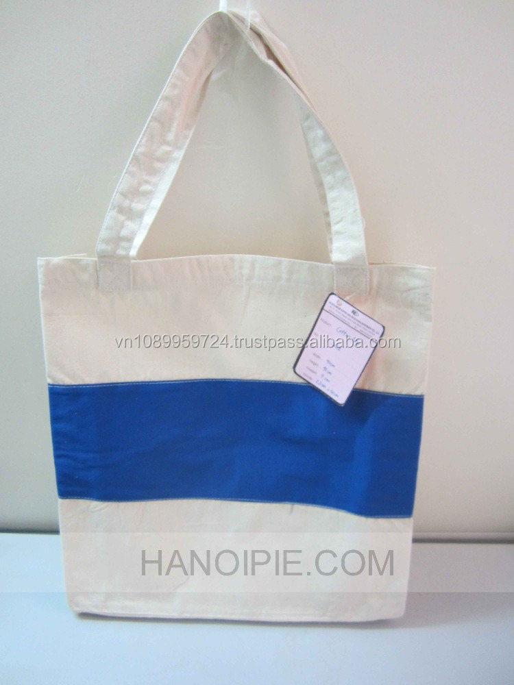 Hot Sale Customized Logo Cotton Handle Paper Gift Shopping Bag/ Jute Packaging Bag From Vietnam
