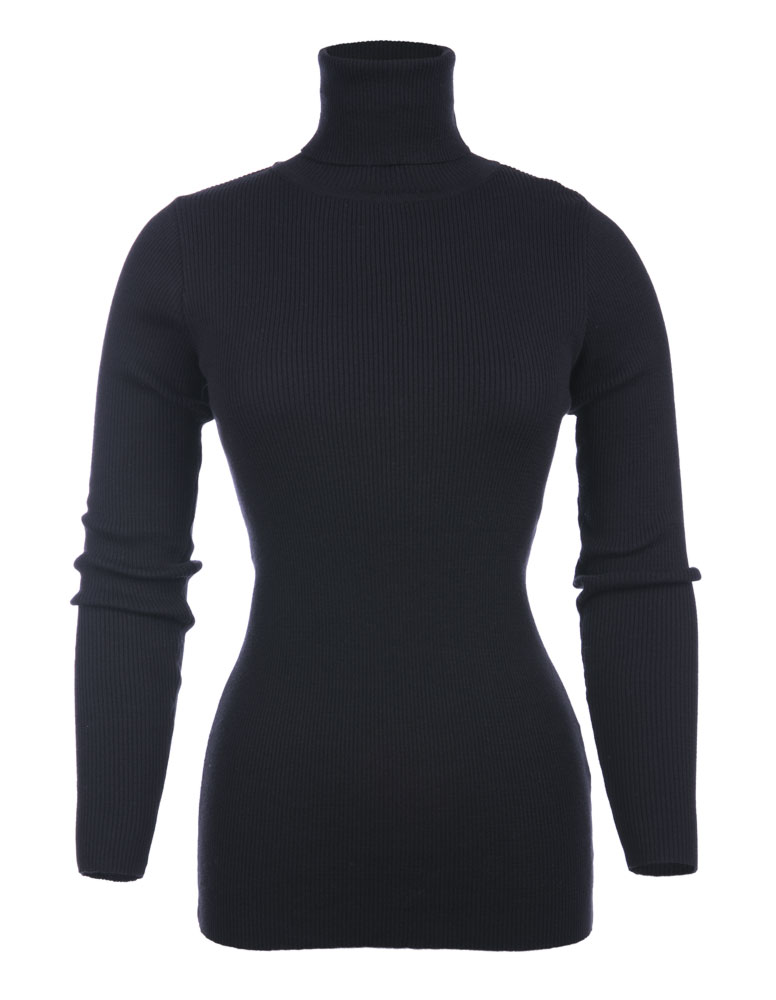 Roll Neck %100 Cotton knitted Jumpers knitted roll neck sweater turkish manufacturer low quantitiy