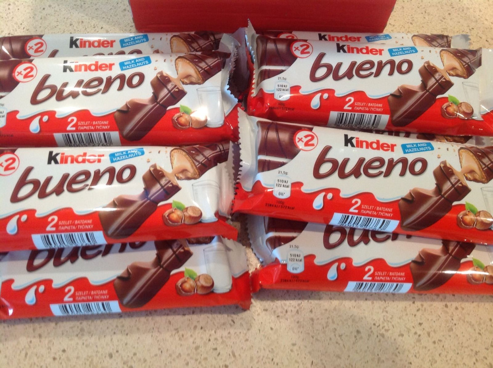 Kinder Bueno 43G, Kinder Joy Chocolate, Mars, Twix, Snikers Ferrero