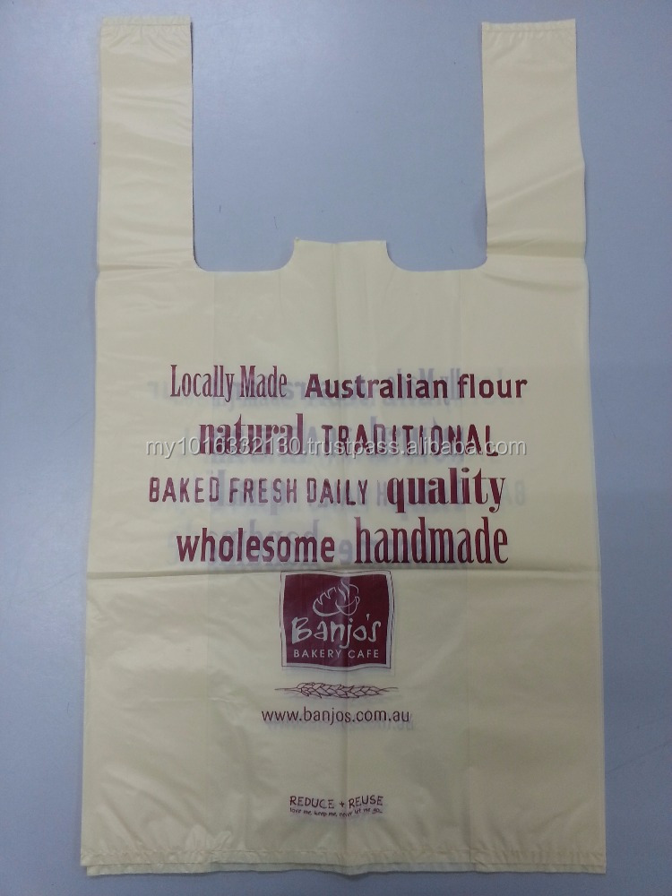 High Quality Printing Colour Checkout Bag, Shopping Bag, Vest Carrier Bag