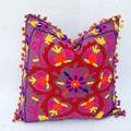 Handmade Indian Woolen Embroidered Cushion Cover Beautiful Decorative Pillowcases