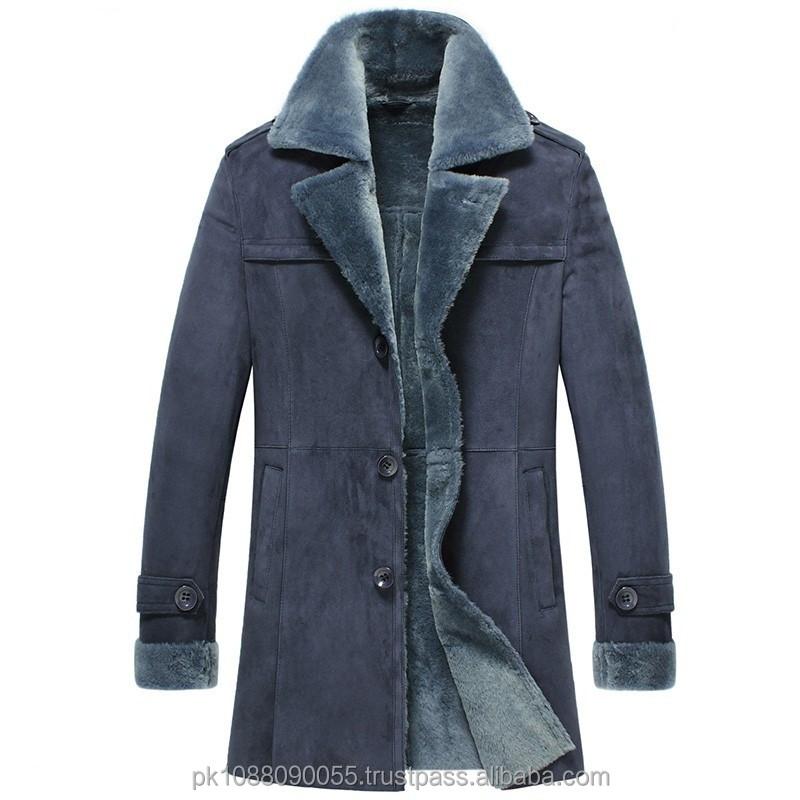 Mens Designer Leather Sheepskin Shearling Coats - Buy Winter ...