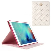 Crown Beads Grids Flip Stand Leather Cover for iPad Pro 9.7 inch, New Arrival For ipad Pro Grids Leather Case