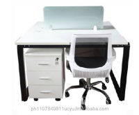 Office Furniture- KHOMI - Linear-1310 Workstation w/ Glass Divider