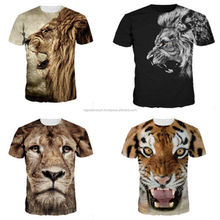 Printed Technics and Unisex Gender Sublimation Animal T shirts