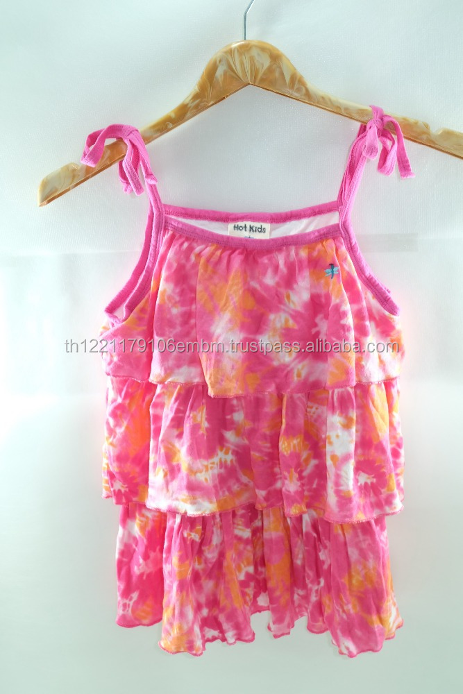 cutie pink baby dress girls 100% cotton high Quality