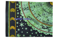 Zodiac Horoscope Tapestry Astrology Hippie Wall Hanging , Bohemian Bedsheet hippie mandala tapestry 100% cotton wholesale jaipur