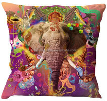 KTDC-02 2015 Hot sell New Elephant Design Digital Printed Cotton Cushion Covers From Jaipur Latest design cushion cover