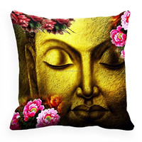 Natural Cool Color Home Decor Saint Budha Religious Digitally Printed Sofa Cushion Cover Throw Pillow Case
