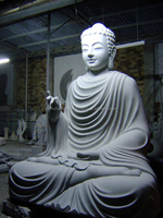 Shakyamuni Buddha Statues for Sale White Marble Stone Hand Carving Sculpture for Home Garden Pagoda Temple No 06